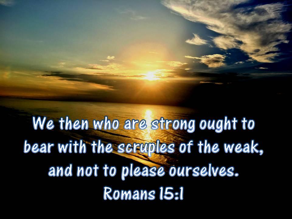 Romans 15 1