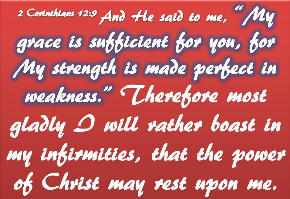 2 Cor 12 9