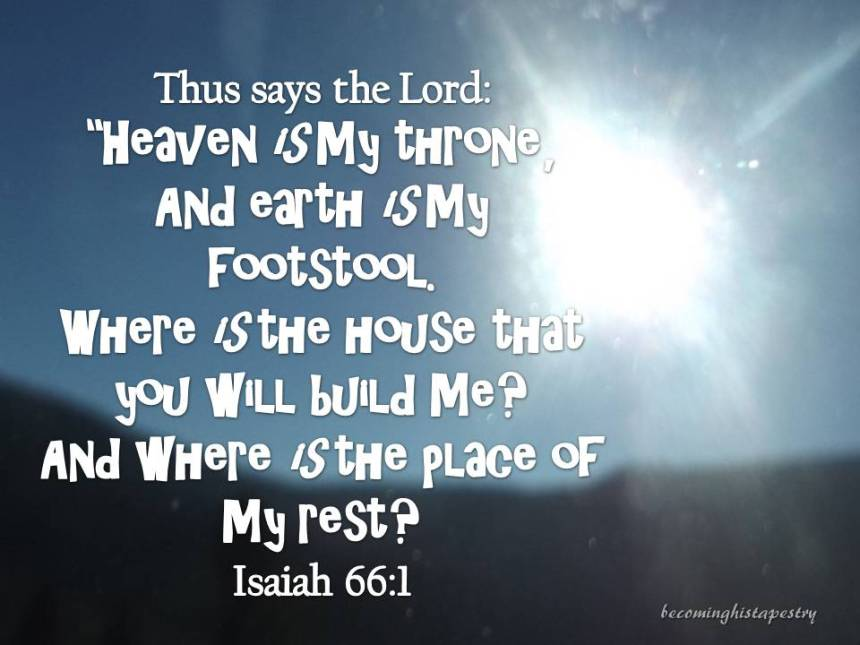 Isaiah 66 1