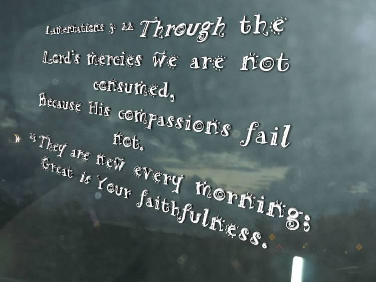 Lamentations 3 22 23